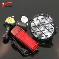 Bicycle Dynamo Light Set Cycling Bycicle Accessories No Batteries Needed Front Light Rear Lamp Dynamo For