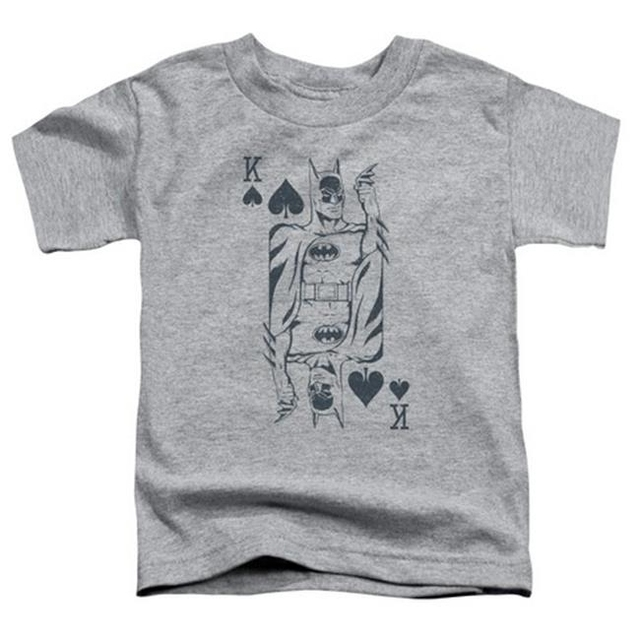 Trevco Dc-Bat Card – Short Sleeve Toddler Tee – Athletic Heather Large 4T