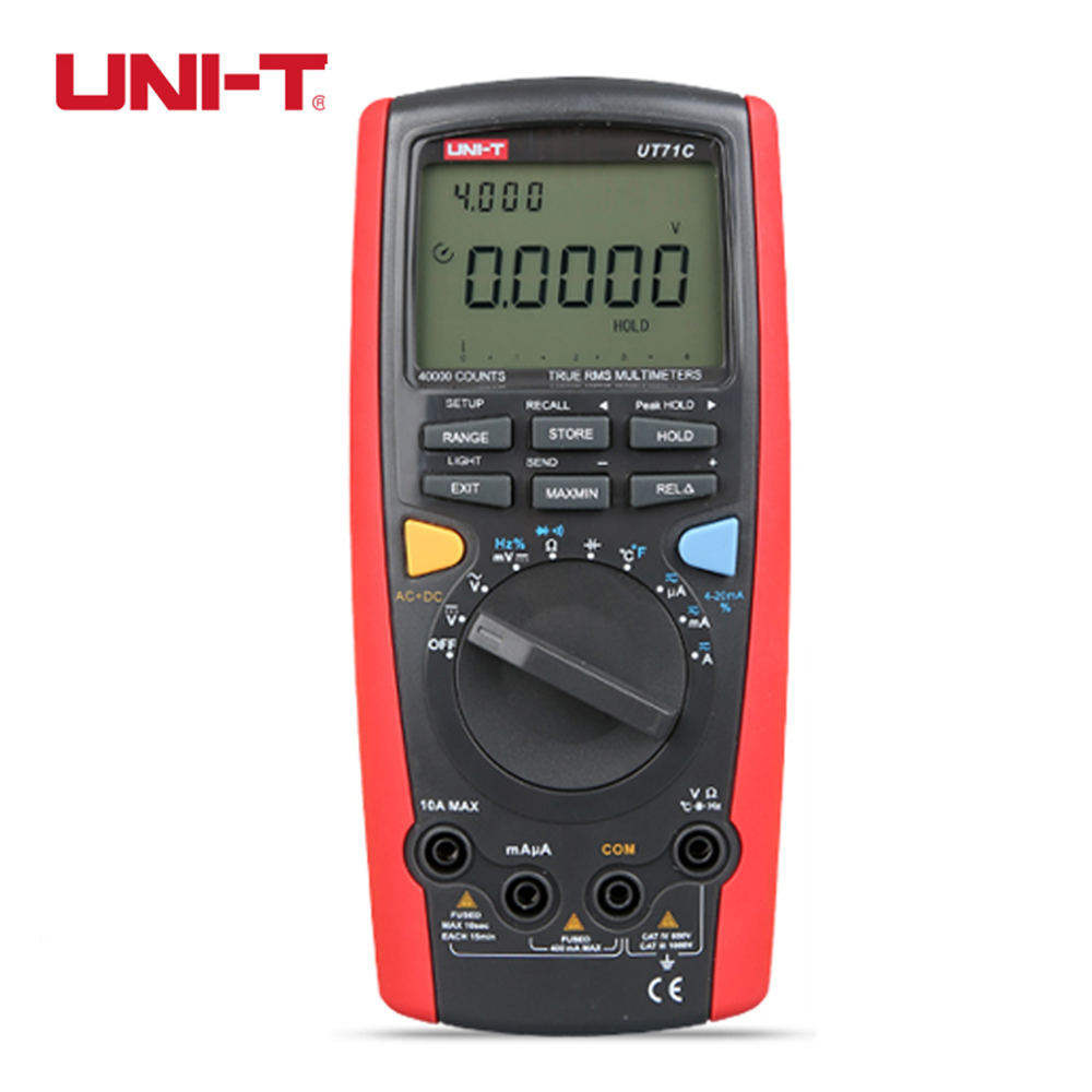 Professional Intelligent Digital MultiMeter UNI-T UT71C AC DC Voltage Current Ampere Ohm Capacitance Meter Tester Voltmeter  цены