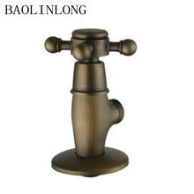 BAOLINLONG Antique Brass Accessories Square Kitchen Bathroom Angle Valve Toilet Sink Basin Water Heater Valves