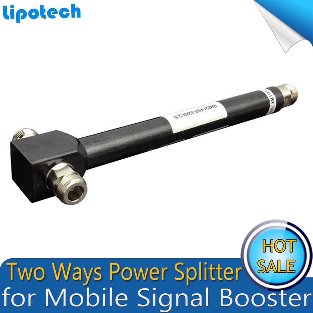 800-2500MHz 2 Way N Female Power Splitter ,Cavity Divider For Mobile Signal Booster Repeater Amplifier Work With 2 Antennas