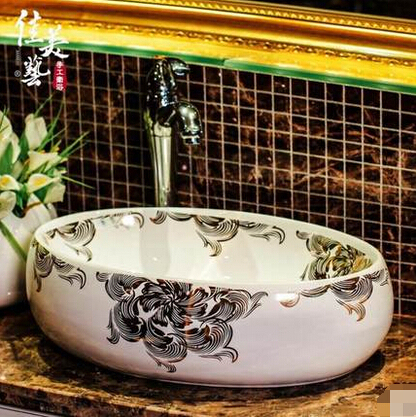 Europese moderne teller wastafel wastafel small size ovale badkamer ...