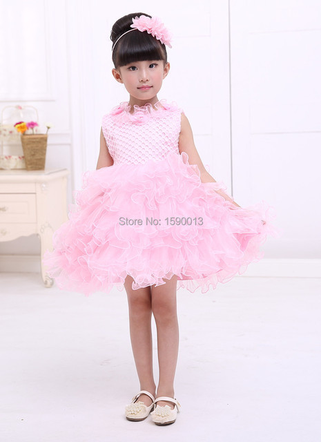 6b9d3c976a3e Pink dress dress suit 2-6 year old little girl princess tutu baby dress  casual