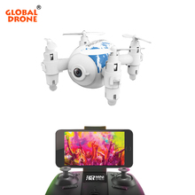 Global Drone Mini Drone with Camera HD 2.4G 4CH 6-axis RTF RC Helicopter Wifi FPV Pocket Drones Toys for Boys