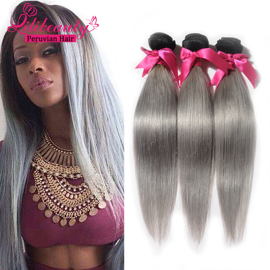 Aliexpress peruvian grey straight hair human hair extension aliexpress peruvian grey straight hair human hair extension wholesale 1bgray human hair weave for black women lili hair weft in hair weaves from hair pmusecretfo Choice Image