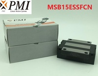 4pcs/lot Original Taiwan PMI MSB15E N MSB15ESSFCN linear guideway sliding block Carriage for CO2 laser machine MSB15E