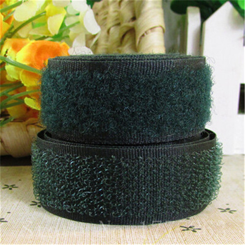 5 Yards 20mm Width Army Color Sew On Hook And Loop Tape AA7317