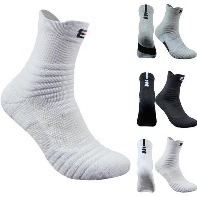 8ade1ff7747 1 Pair Football Socks Man Long Thickening Bottom Cotton Socks Outdoors Run Badminton  Tennis Sport Racing Cycling Socks