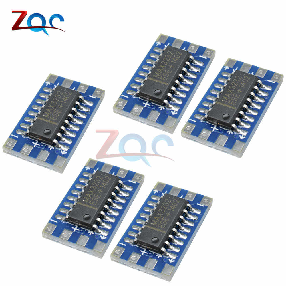 3pcS Mini RS232 Level TTL Board MAX3232 Serial Voltage Converter 3V bis 5V Modul