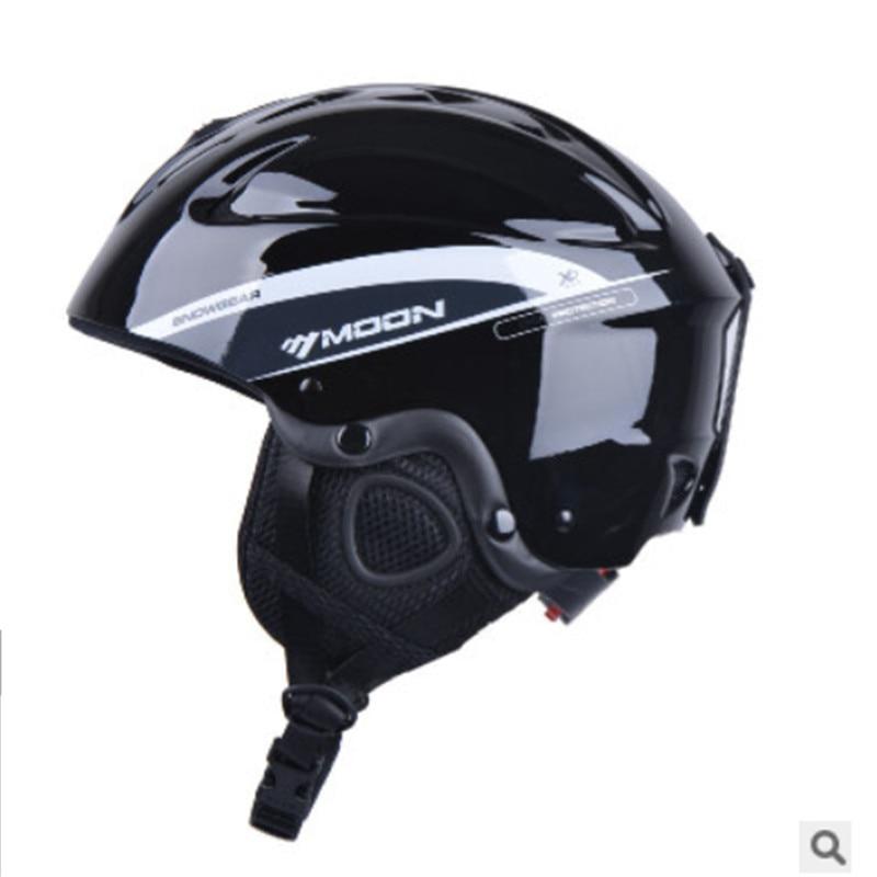 Sports & Entertainment Ski Helmets Moon Capacete De Esqui 2019 Integrated Molding Unisex Outdoor Ski Snowboard Sports Safety Ski Helmet Gear Casque De Ski A41 Strong Resistance To Heat And Hard Wearing