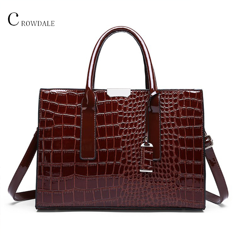 Female Shoulder Bags Crocodile Pattern Women Bag Crossbody Handbag Fashion Designer High Quality Leather Zipper Multi Pocket
