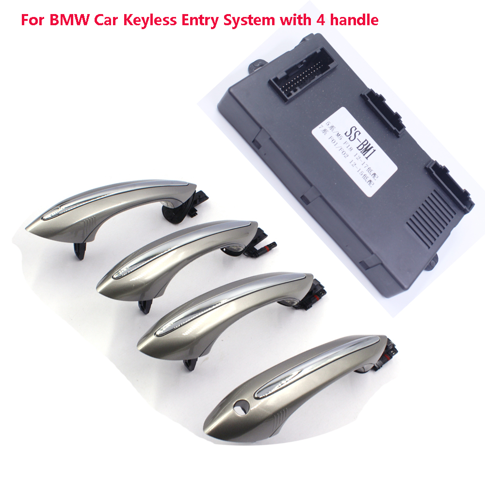PKE Keyless Entry System For BMW F18/F07/F02/F01/F10 Original Remote Key With 4 Car Handle