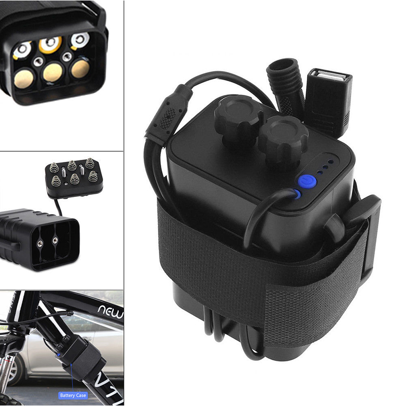 Waterproof Battery Pack Case House Cover For Bicycle Bike Headlamp 8.4V 6x 18650