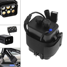 GTF 8.4V 2A 6* 18650 Cycling Safety Waterproof Battery Pack Case House Cover For Bicycle Tail Light Headlight Bike Lamp gtf 8 4v lamp special battery mountain lamp 6 section 18650 battery charging battery pack dc usb