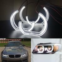 Crystal DTM Style LED Angel Eyes Halo Rings Light kits For BMW 1 Series E82 E88 E87 E81 2008 2011 Xenon headlight Car styling