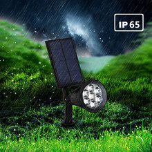 5pcs Solar Spot Light Auto Color Changing Outdoor Lighting Waterproof Solar Powered Security Landscape Wall Light for Home light