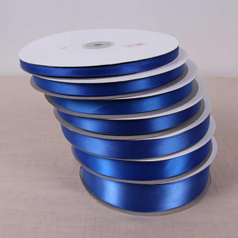 En gros n'importe quelle taille large 25yards bleu Royal satin rubans pour couture ruban décoratif arcs cadeau rubans de soie pour le travail à la main bricolage