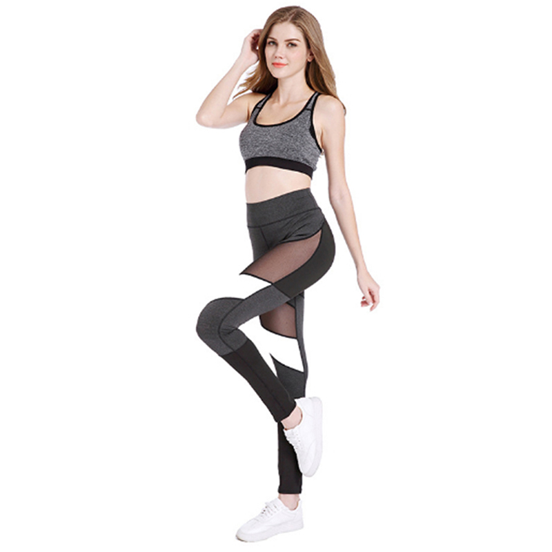 Sport Breathable Patchwork Mesh Women Sports Pants Women High Waist Fitness Leggings Women Quick Dry Sport Tennis Pants
