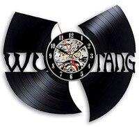 WU TANG CLAN HIP HOP Band Hot CD Record Clock Vinyl Creative Gift For Fans Wall