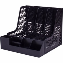 1 Pc/Pack 4-Layer Plastic A4-Size File Tray & Magazine Organizer for Office and Home