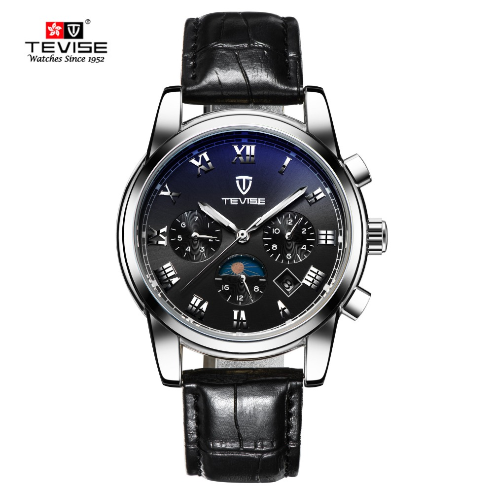 TEVISE Fashion Men Watches Hot Brand Automatic Mechanical Watch Leather Clock Sport Mens Wrist watches Relogio Masculino forsining fashion brand men simple casual automatic mechanical watches mens leather band creative wristwatches relogio masculino