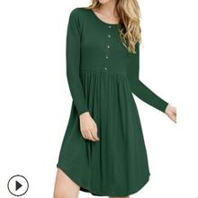 autumn 2018 European and American women s amazon dollar long sleeve swing  dress eb9589b69ded