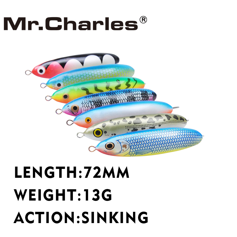 Mr.Charles MR01 72mm/65mm 13g/9.5g Sinking Ice Pencil Lure for Fishing Artificial Dying Ice Fishing Pencil Lure Hard B dunlop sp winter ice 02 205 65 r15 94t