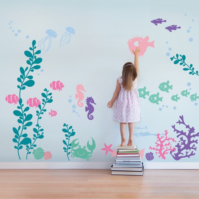 Nuder The Sea Baby Wall Decals Personalized Vinyl Wall Stickers For ...