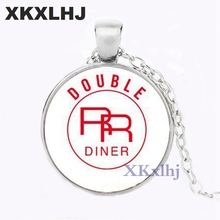 XKXLHJ Art Glass Pendant Twin Peaks Necklace Bookhouse Boys Photo Round