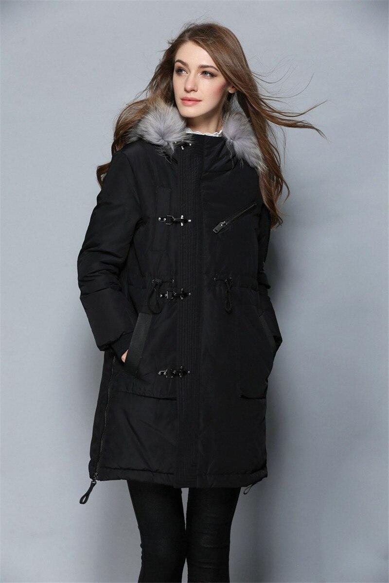 Ayunsue Winter Jacket Women Real Fox Fur Collar Hooded