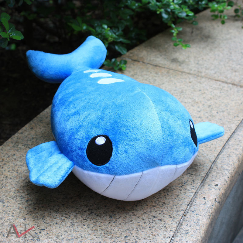 Cartoon Plush Toys 35cm Wailord Soft Stuffed Plush Doll Baby Toy Animal Cartoon Gift for Children big toy owl plush doll children s toys simulation stuffed animal gift 28cm