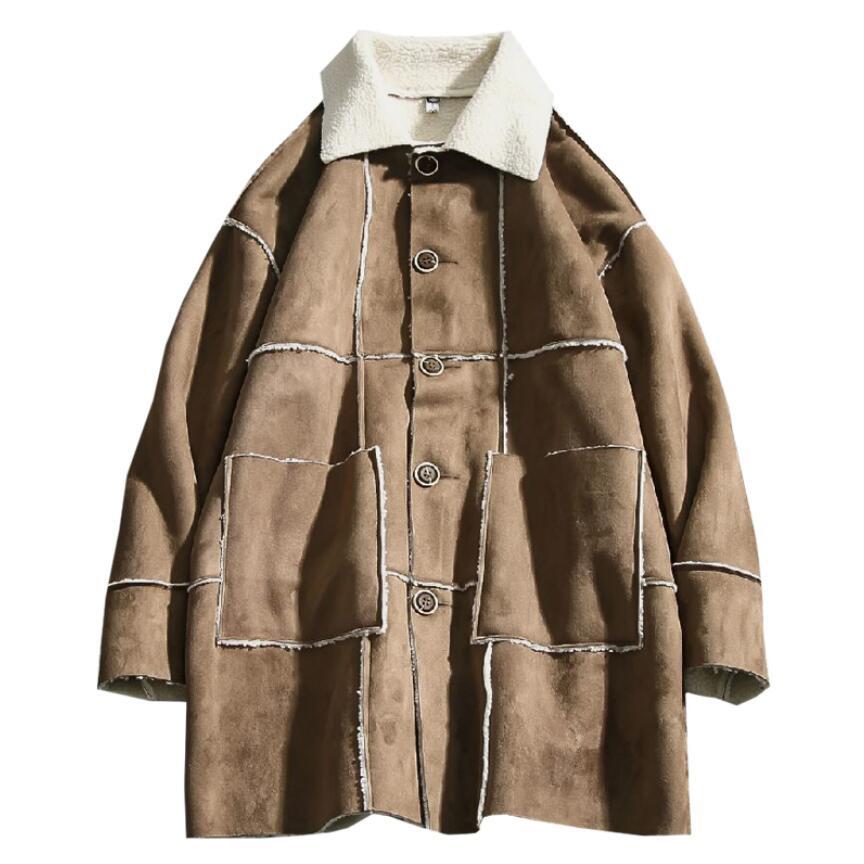 M-5XL automne et hiver hommes col de fourrure épaississement coton vêtements hommes plus engrais XL épais long manteau lâche Plus velours jackes