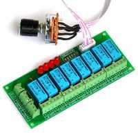エレクトロニクスのサロンバランスのとれた四ステレオオーディオ信号入力セレクタリレーモジュール。