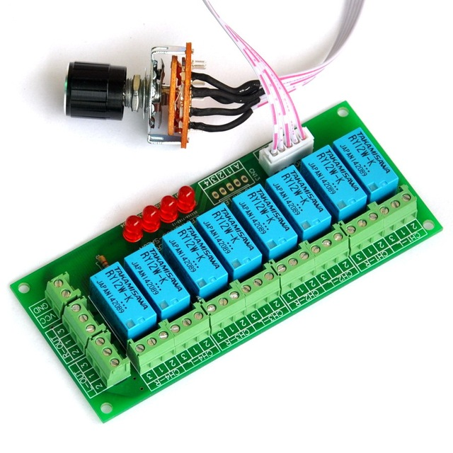 Balanced Four Stereo Audio Signal Input Selector Relay Module.