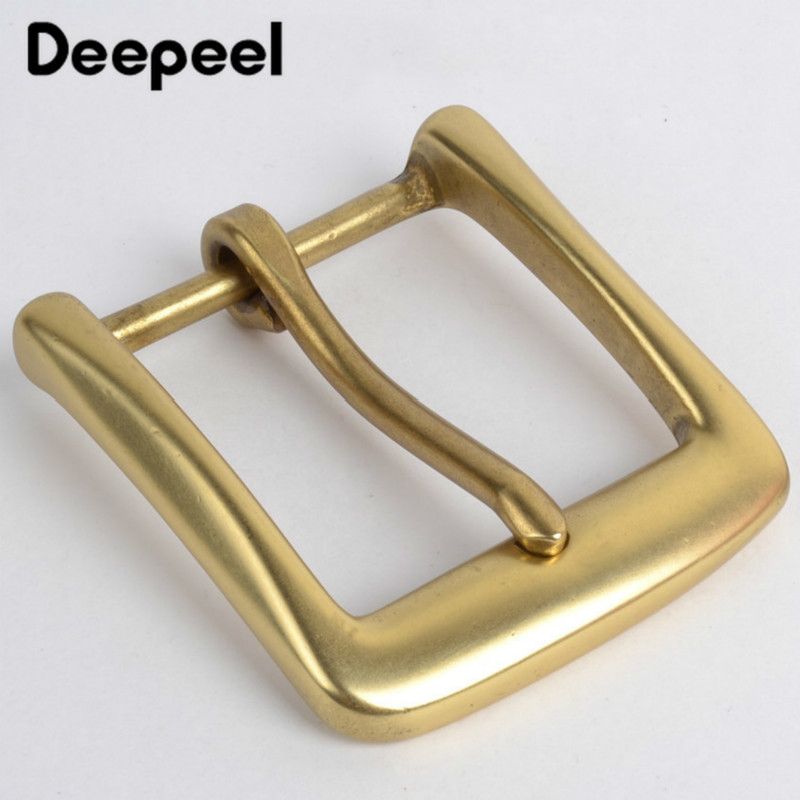 Deepeel 40mm Width  Fashion Solid Brass Men's Women Belt Buckles Pin Buckle Suitable 38-39mm Belt DIY Jeans Accessories AP2393