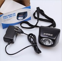 3W LED LED 18HOURS 4500 10000LUX USA CREE Headlamp Cordless Mining Head Light DHL FedEx TNT