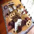 Alfombra de algodón Vintage oso manta gruesa alfombra de tiro sofá toalla manta cama cubierta sala de estar dormitorio Felts tapiz 130X160 CM