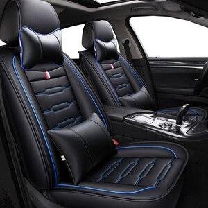 Image 1 - Housses de siège de voiture en cuir PU, housses de siège pour Renault, pour accoudoir, clio duster fluence kadjar kaptur koleos latitude, haute qualité