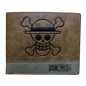 One Piece Men Wallets Japanese Anime Cartoon Game of Thrones Attack on Titan Fairy Tail Leather Purse Zipper Coin Pocket Wallet