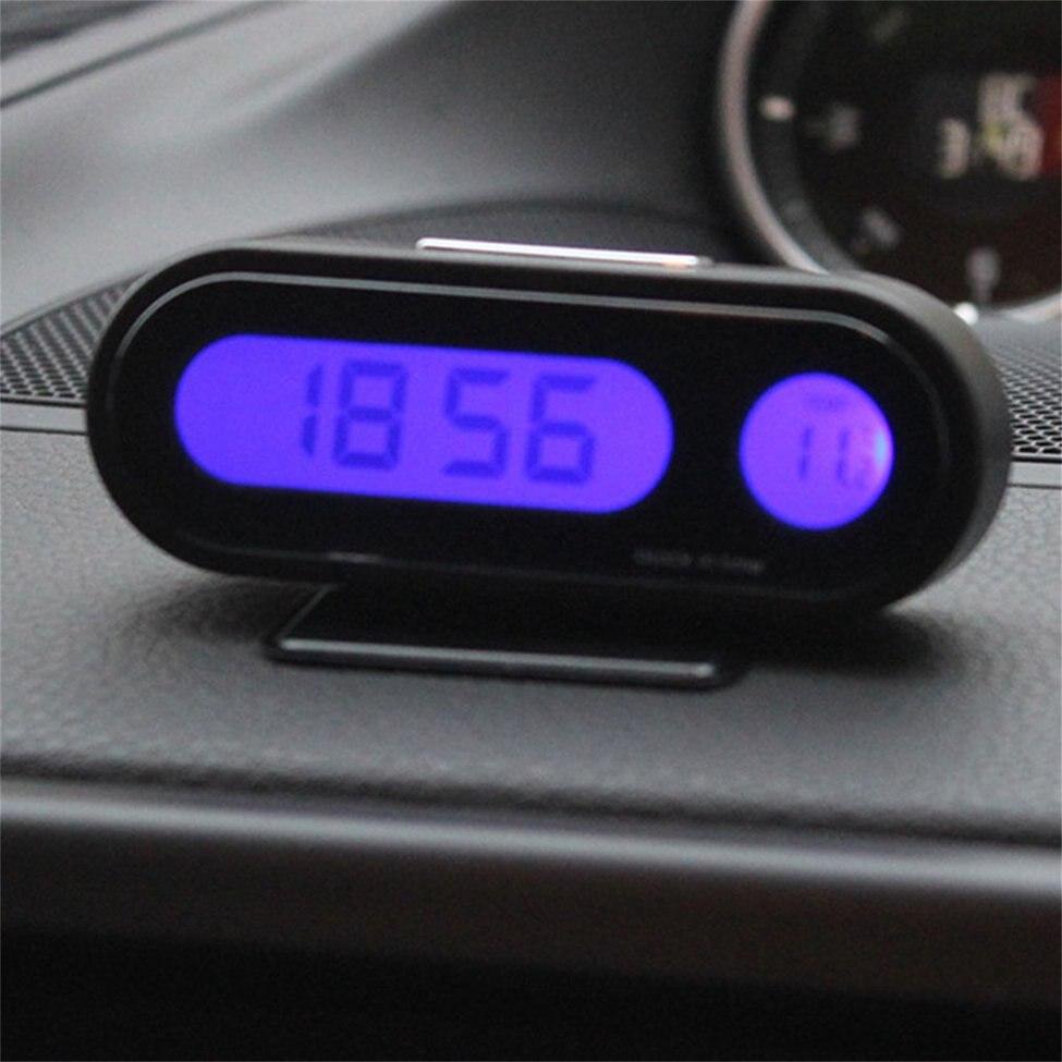 2 pcs Haute Luminosité LED Affichage Véhicule Auto Numérique Électronique Horloge Thermomètre dans Température Jauges de Maison & Jardin