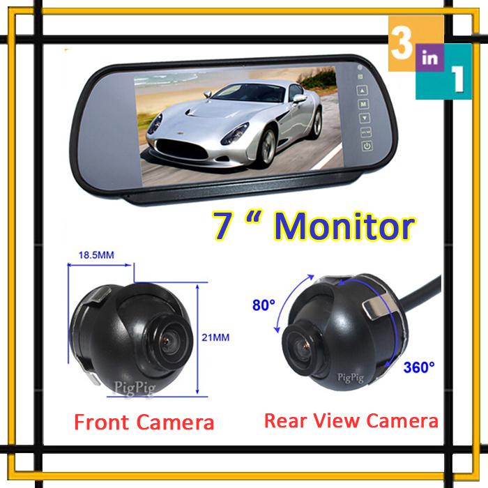 Car Parking System Car Monitor Mirror Parking DVD With Vehicle front Camera Rear view Camera Auto