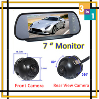 Car Parking System Car Monitor Mirror Parking DVD With Vehicle front Camera+ Rear view Camera Auto Parking Reversing Camera