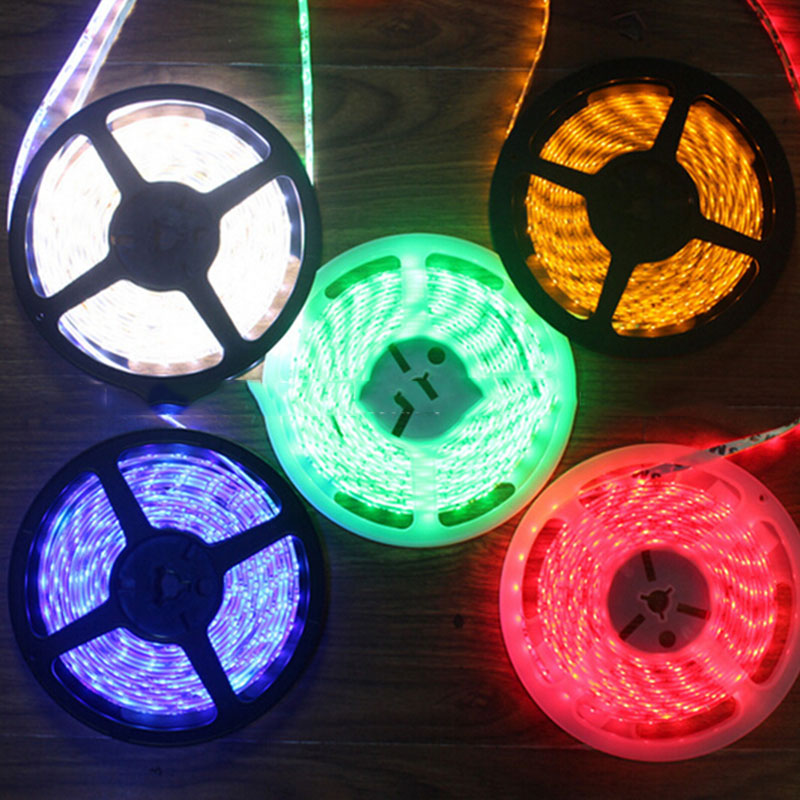1m//5m 3528 SMD RGB Flexible LED Strip Lights Battery Powered Waterproof Portable