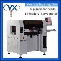 Precio Máquina de recogida y colocación Manual de componentes SMT660 SMD de 6 cabezales 0402 0603 BGA