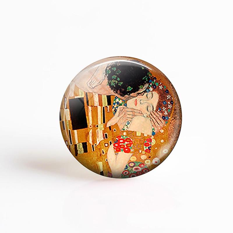 printed round cabochon 25 mm reason painting of Klimt
