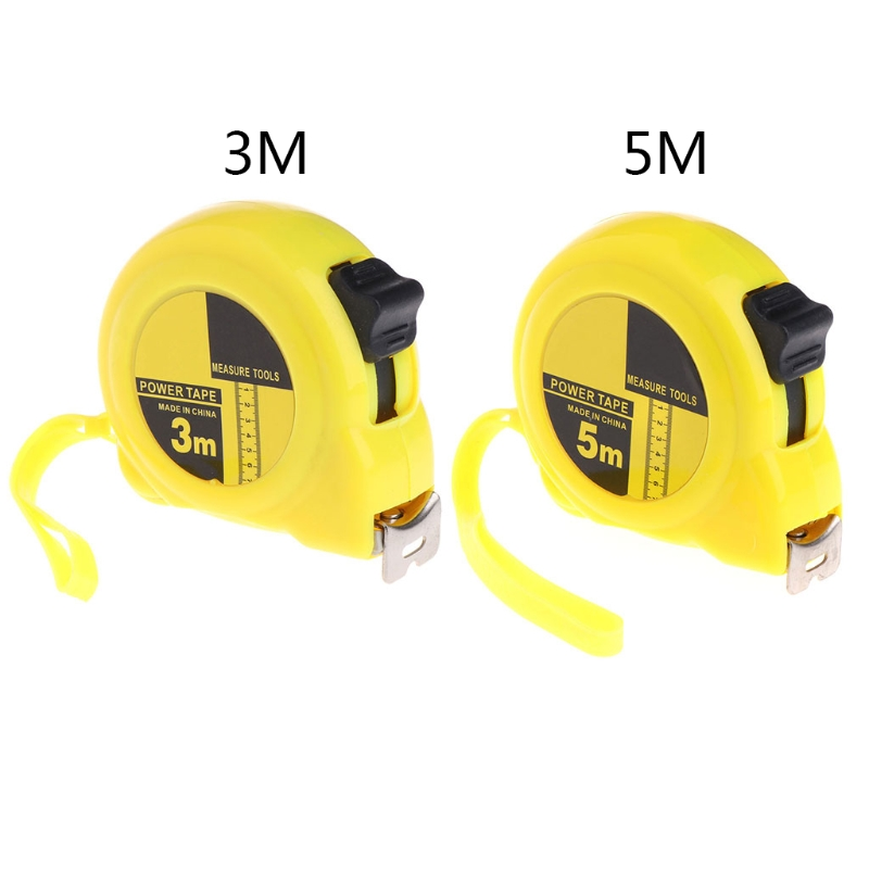 1 Pc Tape Measure Stanless Steel&Plastic 3m 5m Retractable Stainless Steel Tape Measure Ruler Measuring Metric Tape Rule vintage faux crystal water drop sweater chain jewelry for women