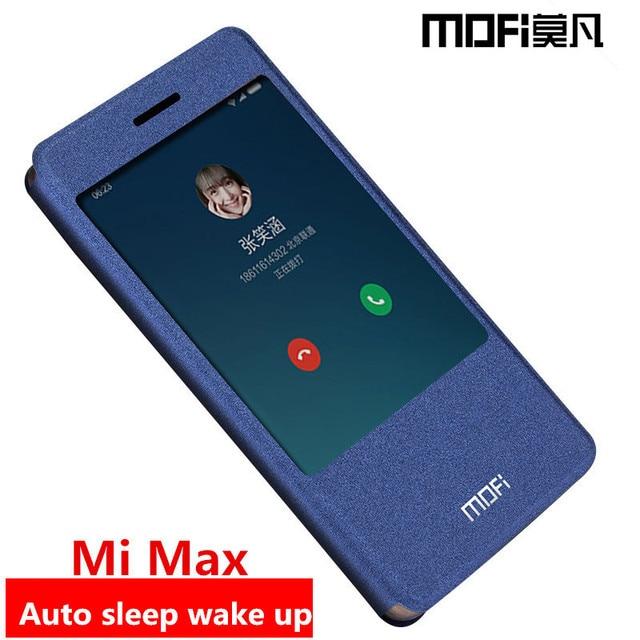 sale retailer 9af94 82a00 US $8.99 10% OFF|xiaomi mi max case flip cover mimax back leather silicone  hard protect magnet phone cases MOFi original xiaomi mi max case cover-in  ...