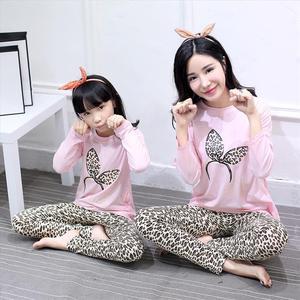 Matka córka piżama mama matka i jednakowe ubrania dla córki dziecko piżamy dzieci zwierząt dziewczyny bielizna nocna wiosna strój na noc słodkie