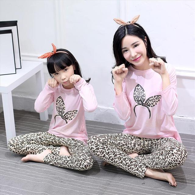 27a820273c Mother Daughter Pajamas Mum Mother and Daughter Matching Clothes Baby  Pajamas Kids Animal Girls Sleepwear Spring Night Suit Cute-in Matching  Family Outfits ...