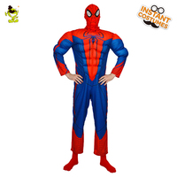 Macho Spider Hero Costume High Quality SuperHero American Superman Captain Role Play Jumpsuit for Halloween Carnival Party Show